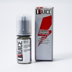 E Liquid 10 ml Colonel Custard T-Juice 0 mg/ml