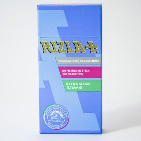 Boite 120 filtres Rizla+ slim stick