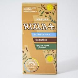 Boite 120 filtres Rizla+ bio stick