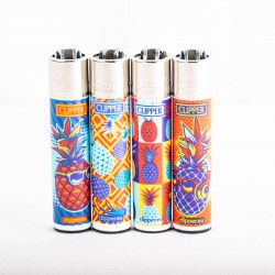 Briquet Clipper grand ananas x4