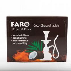 Boîte charbons coco naturel Faro x100