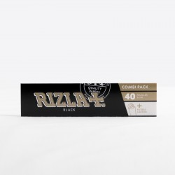 Rolling paper Rizla+ black slim + Tips