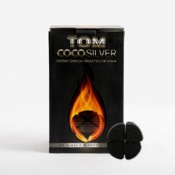 Tom Cococha Holzkohlebox  Silber 1 kg