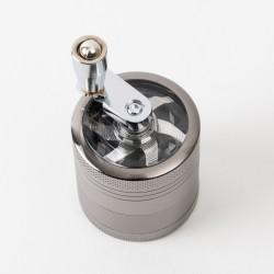 Grinder métal à manivelle 4 parties