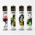 Briquet Clipper grand Streetart Animals x4