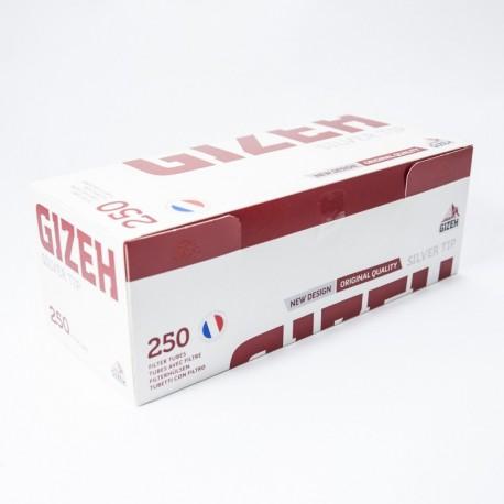 Packung mit 250 Hülsen Gizeh Silver Tip