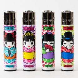 Geishas Clipper Lighters x4