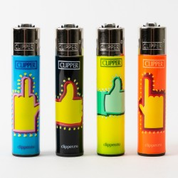 Fingers Clipper Lighters x4