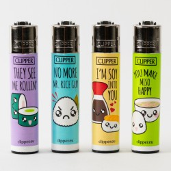 Sushi Fun Clipper Lighters x4