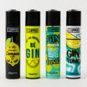 Feuerzeug Clipper Groß Gin Tonic  x4
