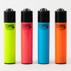 Clipperfeuerzeug Mini fluoreszierend x4