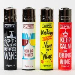 Clipper Wine Quotes Lighters x4
