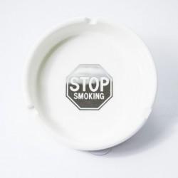 Cendrier rond céramique 10cm Stop