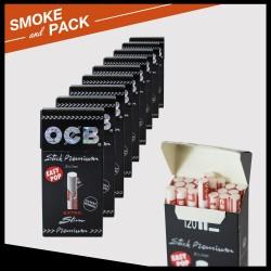Pack 10 boites 120 filtres Ocb slim stick