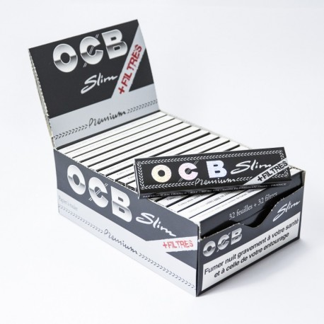 Ocb Slim Rolling Papers + Tips x32