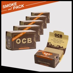 Ocb virgin rolling paper rolls + filters tips x6
