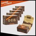 Pack 6 rouleaux papier à rouler Ocb virgin rolls + filtres