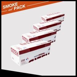 Pack 4 boîtes de 250 tubes Gizeh silver tip