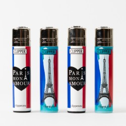 Briquet Clipper grand Paris Mon Amour  x4
