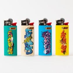 Feuerzeug Bic mini Graffiti x4