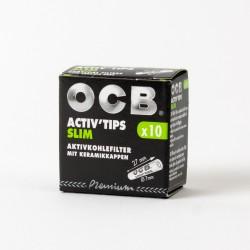 Boîte 10 filtres Ocb Slim Activ'tips