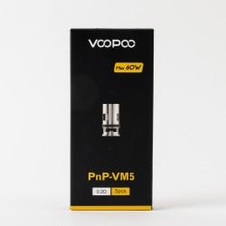 Boîte 5 résistances PnP VM5 0.2 Ohm Voopoo