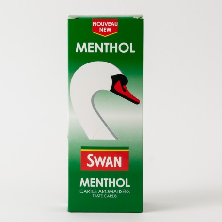 Cartes aromatisées Swan menthol x25