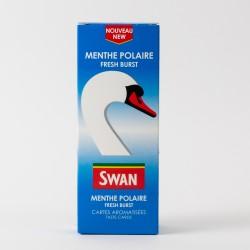 Cartes aromatisées Swan menthe polaire x25