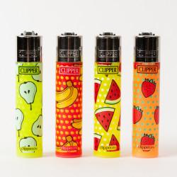 Briquet Clipper grand fruits x4