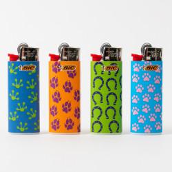Feuerzeug Bic mini Fußabdruck x4