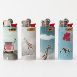 Feuerzeug Bic mini Giraffe x4