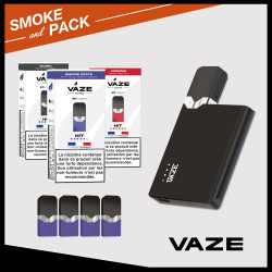 Pack Vaze 3 lots Pods tabac 20 mg + 1 batterie