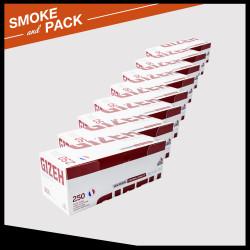 Pack 8 boites de 250 tubes Gizeh silver tip