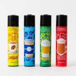 Briquet Clipper grand Coffee  x4